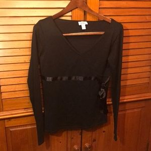 Lilly Pulitzer Black Blouse Small